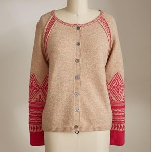 NEW Sundance Sophie Fair Isle Wool Cardigan Nordic